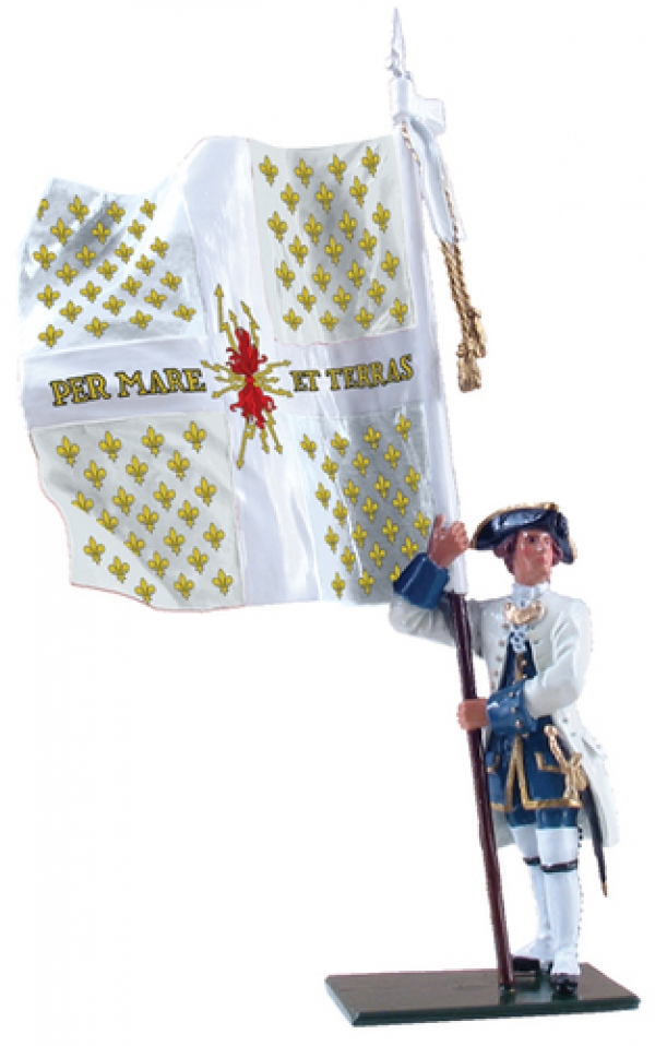 47040 - Compagnies franches de la Marine Ensign with Colonel's Color, 1754-1760