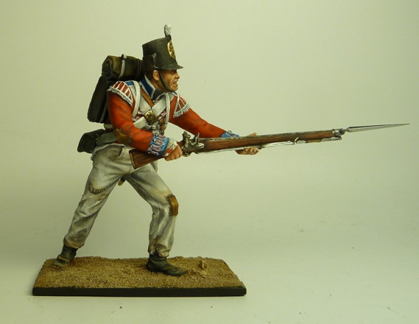 Pen 7a Royalwelch Fusilier Lunging With Bayonet
