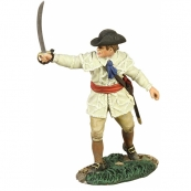 16004 - COLONIAL MILITIA OFFICER POINTING WITH SWORD