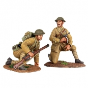 "23073 - ""Move Up"" - 1916-17 British Infantry Officer Kneeling and Infantry Preparing to Spring Up"