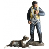 25019 - RAF Commemorative Set - Fighter Command - RAF Fighter Pilot 1943 with Faithful Companion