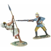 """27057 - """"THROW POINT"""" - BRITISH CAMEL CORPS AT THROW POINT CONNECTING WITH MAHDIST HAND-TO-HAND SET"""